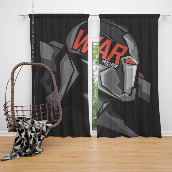 War Machine Marvel MCU Avengers Bedroom Window Curtain