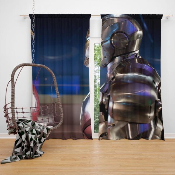 War Machine Rhodey Marvel MCU Iron Man 2 Movie Bedroom Window Curtain