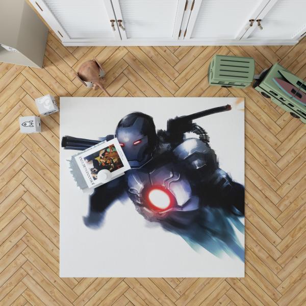 War Machine United States Department of Defense Marvel Bedroom Living Room Floor Carpet Rug