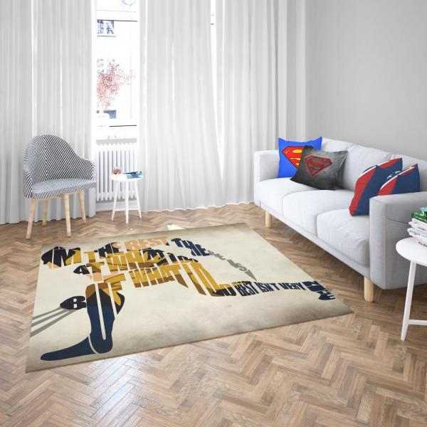Wolverine Alpha Flight Marvel Comics Bedroom Living Room Floor Carpet Rug