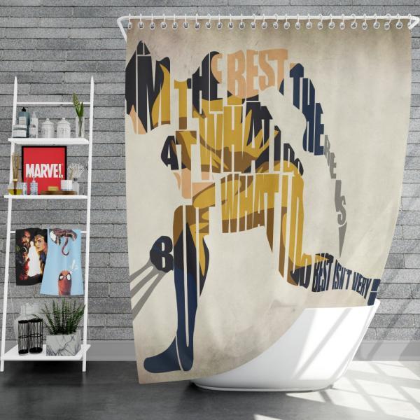 Wolverine Alpha Flight Marvel Comics Shower Curtain
