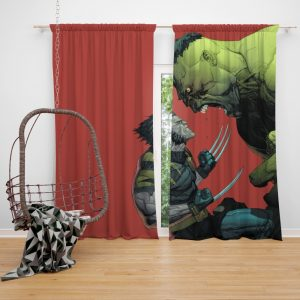 Wolverine Comics Post mortem and legacy Bedroom Window Curtain