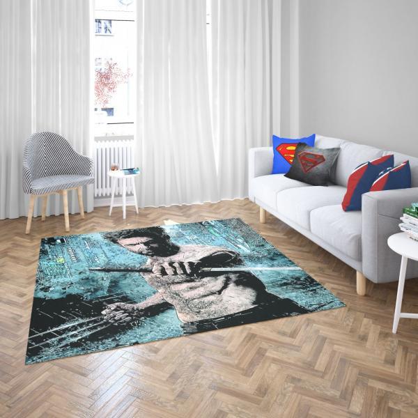 Wolverine Hugh Jackman Resurrection Marvel Bedroom Living Room Floor Carpet Rug