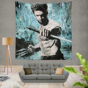 Wolverine Hugh Jackman Resurrection Marvel Wall Hanging Tapestry