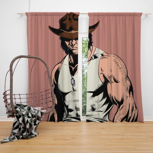 Wolverine Infinity Countdown Marvel Comics Bedroom Window Curtain