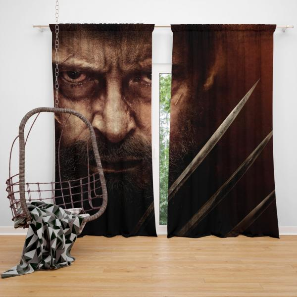 Wolverine Logan Movie Hugh Jackman Laura Kinney X-23 Bedroom Window Curtain