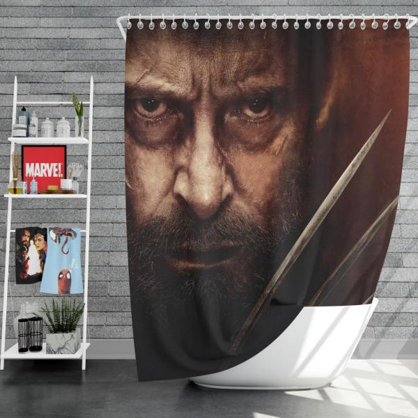 Wolverine Logan Movie Hugh Jackman Laura Kinney X-23 Shower Curtain