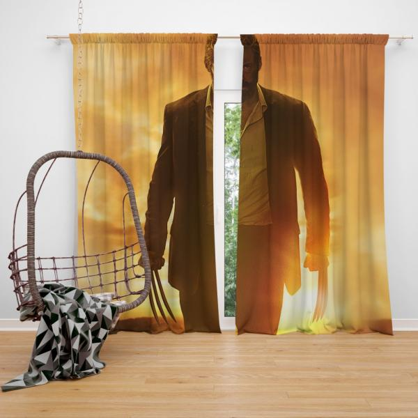 Wolverine Logan Movie Hugh Jackman New Avengers Bedroom Window Curtain