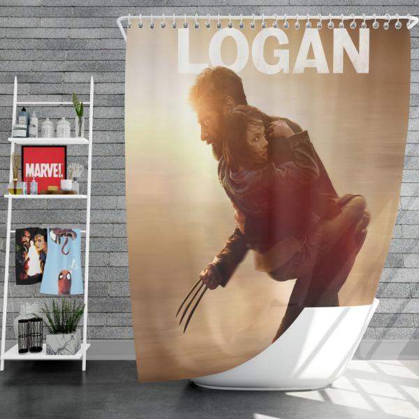 Wolverine Logan Movie Hugh Jackman Shower Curtain