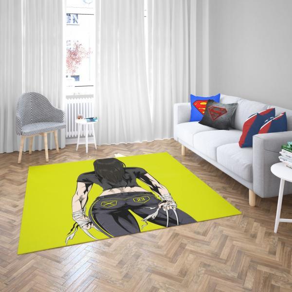 Wolverine Marvel Avengers Unity Squad Bedroom Living Room Floor Carpet Rug