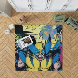 Wolverine Marvel Comics Avengers Unity Squad Bedroom Living Room Floor Carpet Rug