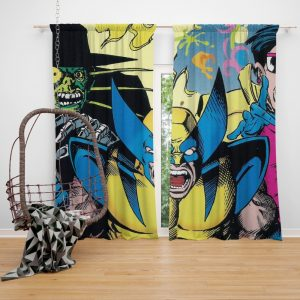 Wolverine Marvel Comics Avengers Unity Squad Bedroom Window Curtain