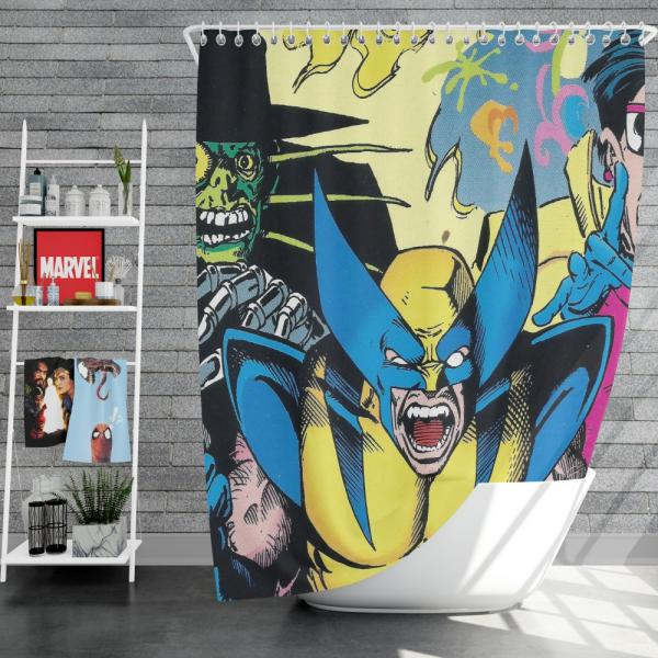 Wolverine Marvel Comics Avengers Unity Squad Shower Curtain