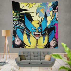 Wolverine Marvel Comics Avengers Unity Squad Wall Hanging Tapestry
