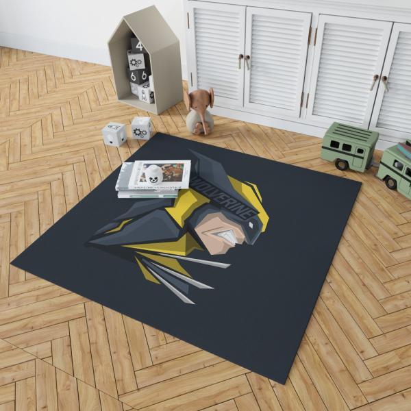 Wolverine Marvel Comics Hunt for Wolverine Bedroom Living Room Floor Carpet Rug