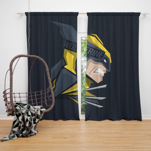 Wolverine Marvel Comics Hunt for Wolverine Bedroom Window Curtain