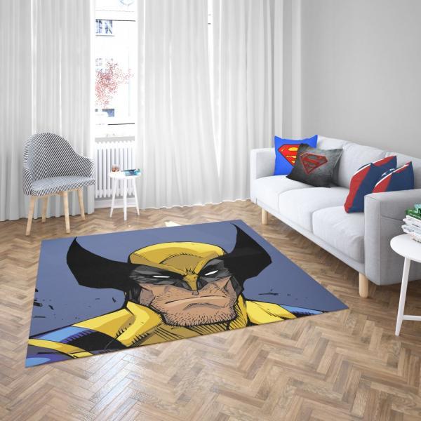Wolverine Marvel Comics Return of Wolverine Bedroom Living Room Floor Carpet Rug