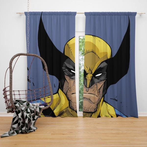 Wolverine Marvel Comics Return of Wolverine Bedroom Window Curtain