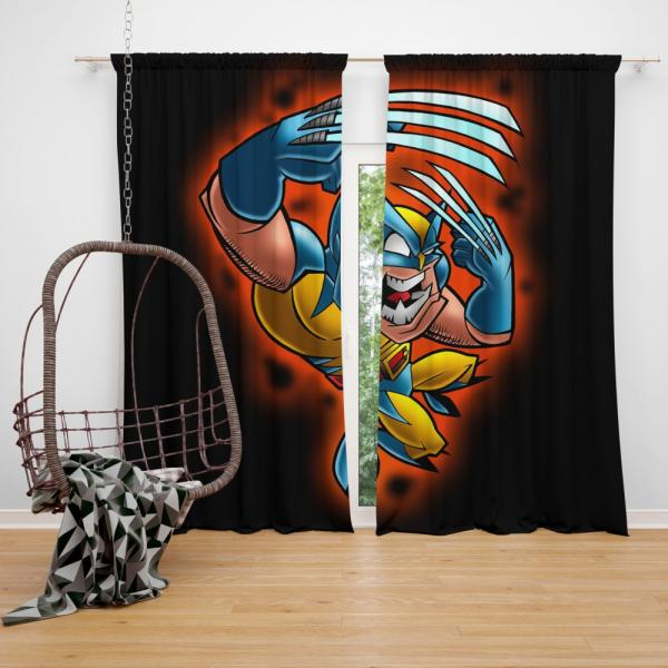 Wolverine Marvel Wolverine Comics Goes to Hell Bedroom Window Curtain