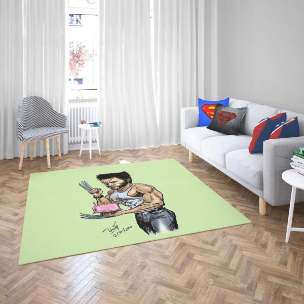 Wolverine Weapon X Marvel Comics Bedroom Living Room Floor Carpet Rug