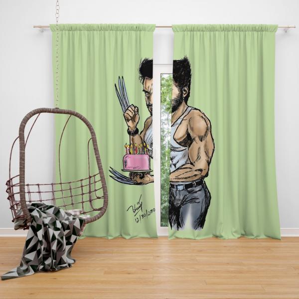 Wolverine Weapon X Marvel Comics Bedroom Window Curtain