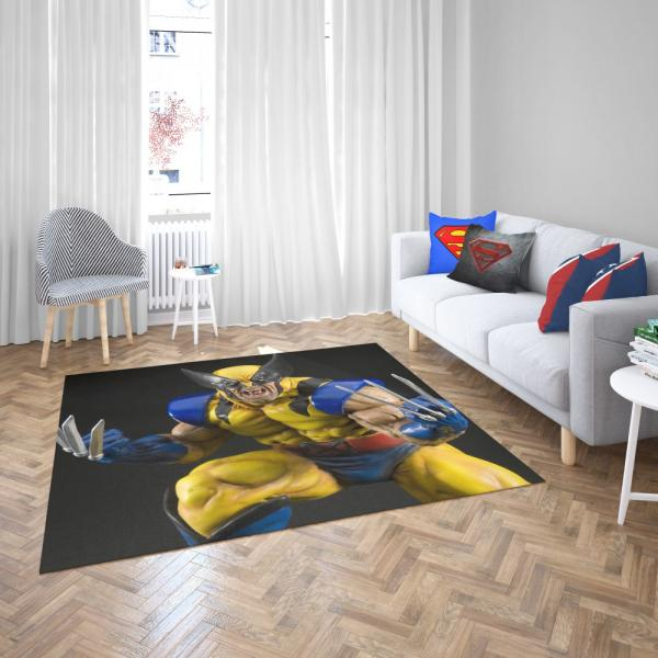 Wolverine X-Men Figurine Marvel Comics Bedroom Living Room Floor Carpet Rug