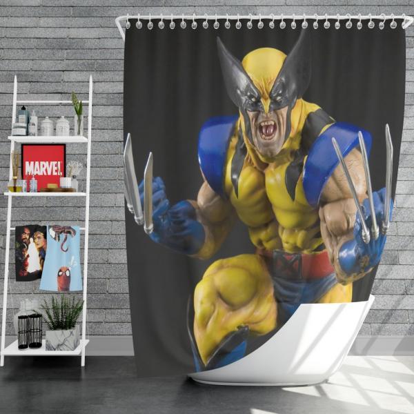 Wolverine X-Men Figurine Marvel Comics Shower Curtain
