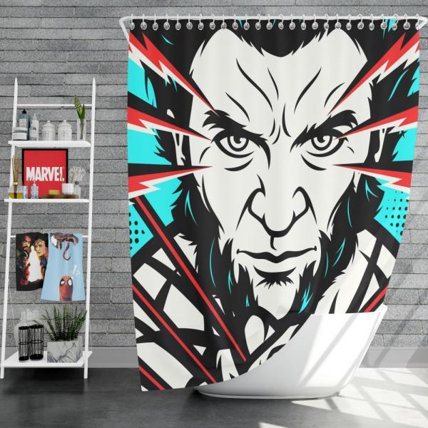 Wolverine X-Men Origins Hugh Jackman Shower Curtain
