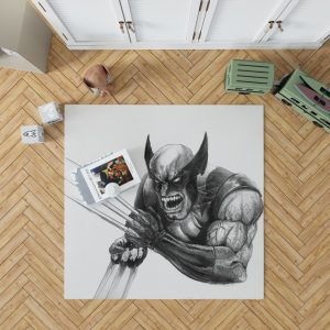 Wolverine and Hulk Fight Marvel Comics Bedroom Living Room Floor Carpet Rug