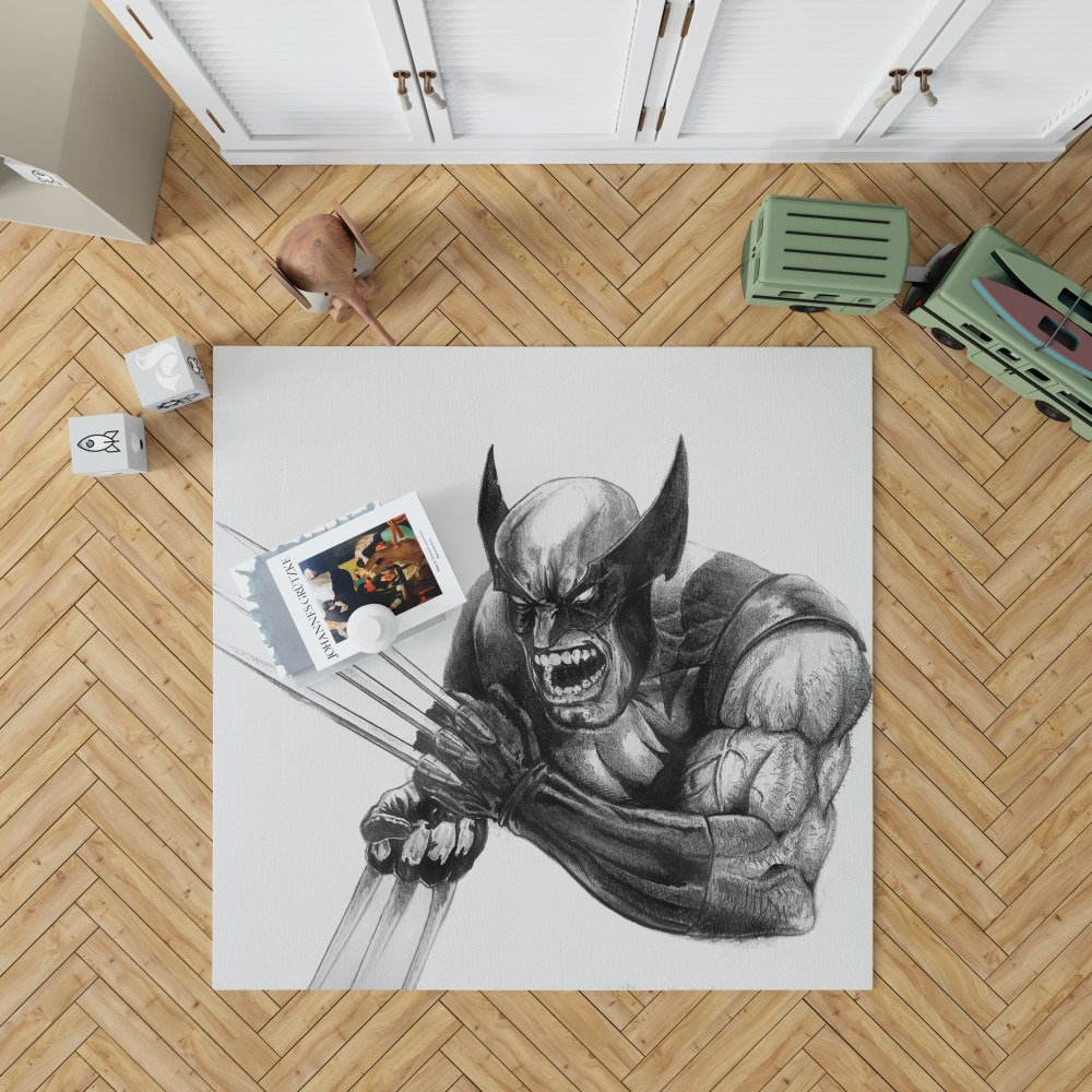 Wolverine and Hulk Fight Marvel Comics Bedroom Living Room ...