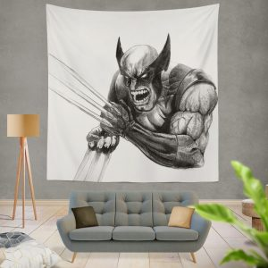 Wolverine and Hulk Fight Marvel Comics Wall Hanging Tapestry
