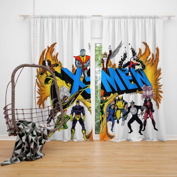 Wolverine in X-Men Univerese Bedroom Window Curtain