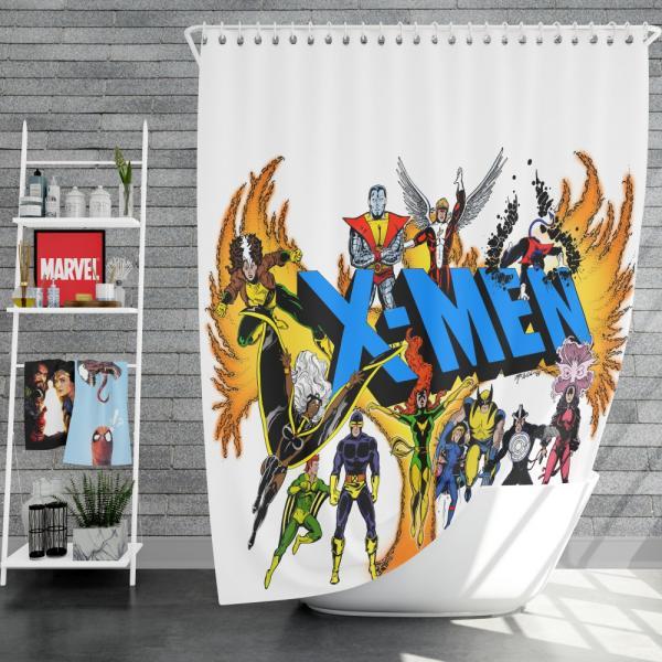 Wolverine in X-Men Univerese Shower Curtain