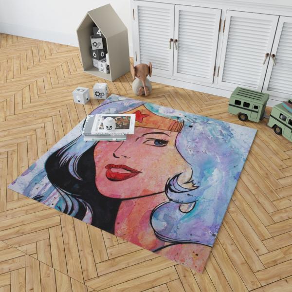 Wonder Woman Amazonian DC Comics Bedroom Living Room Floor Carpet Rug