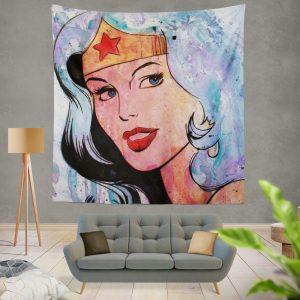 Wonder Woman Amazonian DC Comics Wall Hanging Tapestry