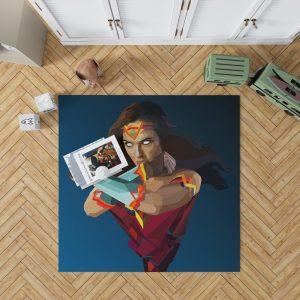 Wonder Woman DC Comics Facets Bedroom Living Room Floor Carpet Rug