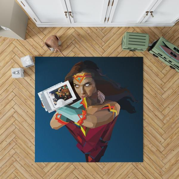 Wonder Woman DC Comics Facets Bedroom Living Room Floor Carpet Rug