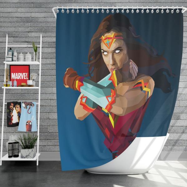 Wonder Woman DC Comics Facets Shower Curtain