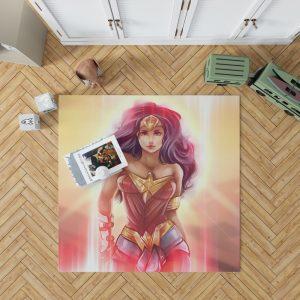 Wonder Woman Fan Art Digital Paint Bedroom Living Room Floor Carpet Rug