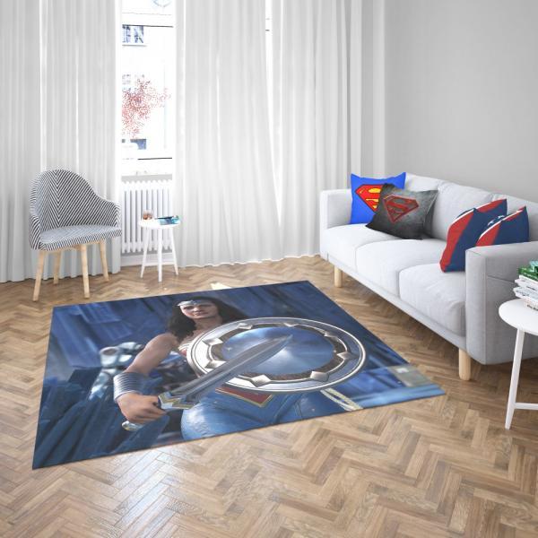 Wonder Woman Injustice 2 Video Game DC Bedroom Living Room Floor Carpet Rug