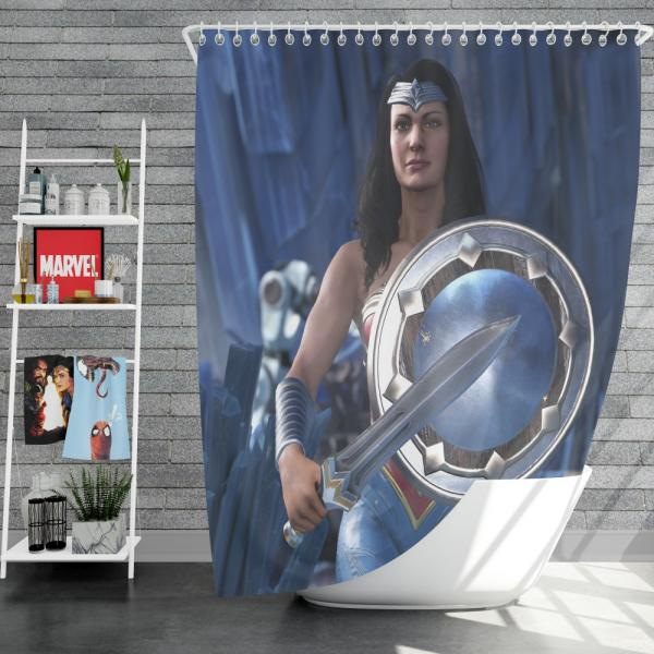 Wonder Woman Injustice 2 Video Game DC Shower Curtain