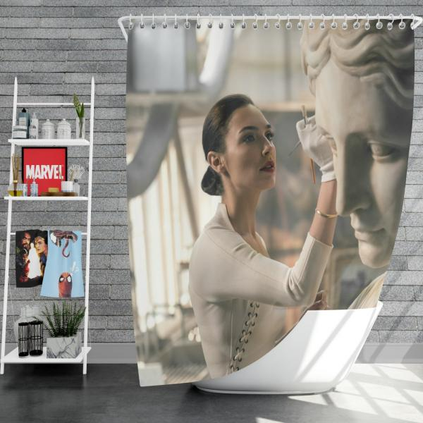 Wonder Woman Justice League 2017 Movie Gal Gadot Shower Curtain