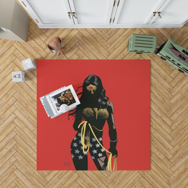 Wonder Woman Justice League Dark DC Comics Bedroom Living Room Floor Carpet Rug