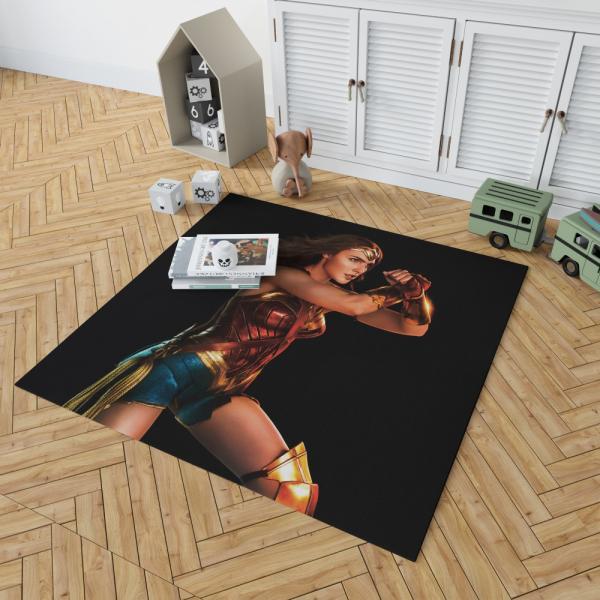 Wonder Woman Justice League Gal Gadot Bedroom Living Room Floor Carpet Rug