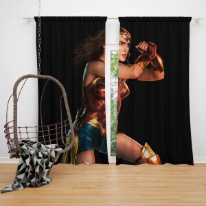 Wonder Woman Justice League Gal Gadot Bedroom Window Curtain