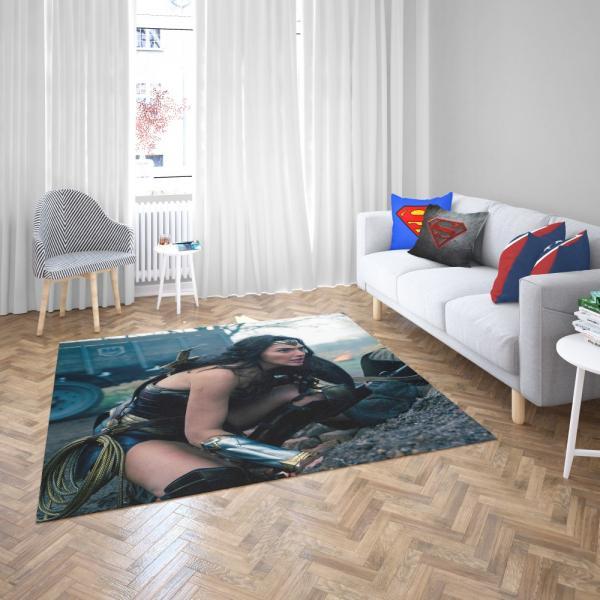 Wonder Woman Movie Diana Prince Gal Gadot Bedroom Living Room Floor Carpet Rug