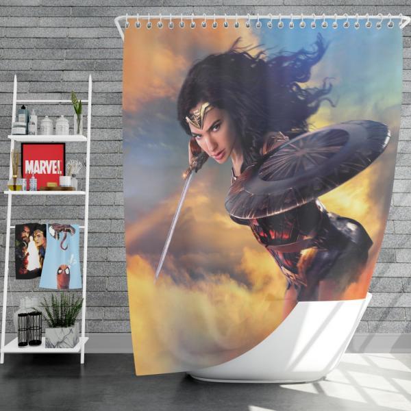 Wonder Woman Movie Diana of Themyscira Gal Gadot Shower Curtain