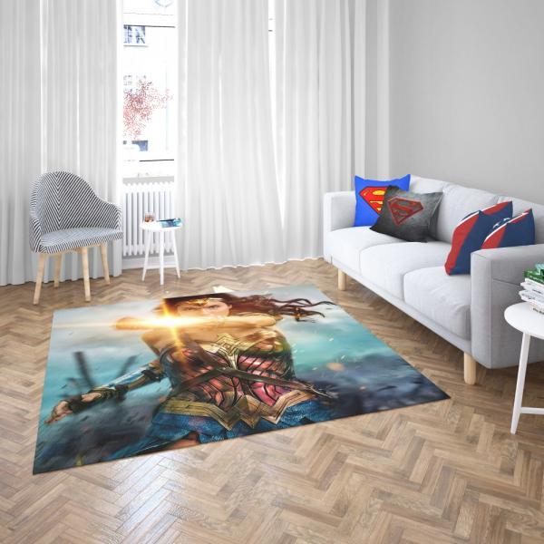 Wonder Woman Movie Gal Gadot Bedroom Living Room Floor Carpet Rug