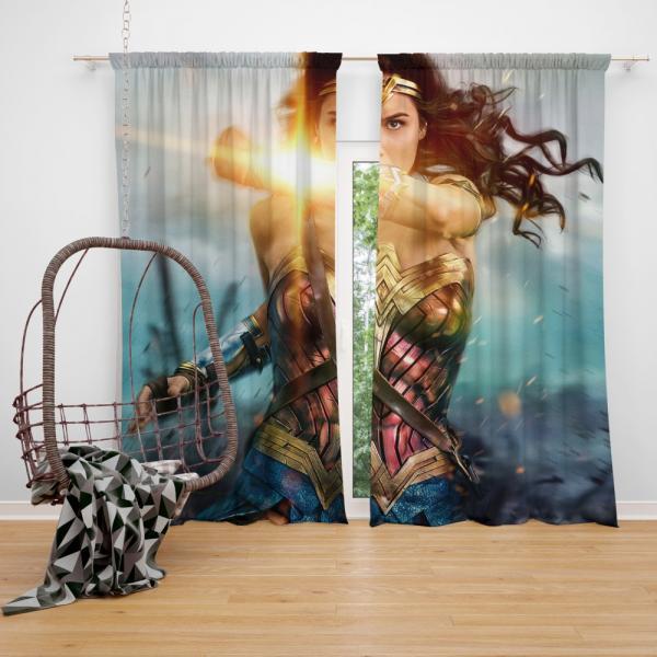 Wonder Woman Movie Gal Gadot Bedroom Window Curtain
