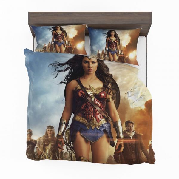 Wonder Woman Movie Gal Gadot Chris Pine Bedding Set